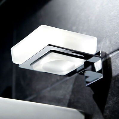 SQ Frosted Glass Wall Mounted Soap Dish & Holder