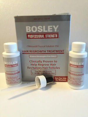 Bosley Professional 5% Minoxidil Solution Hair Regrowth Treatment For Men