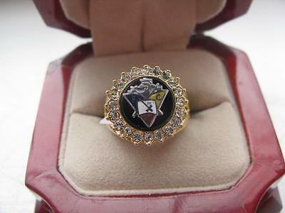 """Superb NEW Ladies Knights of Pythias"""" Wifes Crest Ring"""