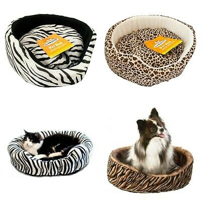 Small dog cat pet soft bed pillow nest basket cushion machine washable brand new