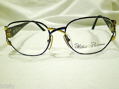 Vintage Paloma Picasso Eyeglasses Marble Blue Gold Hot 57-18 Maid In  Austria