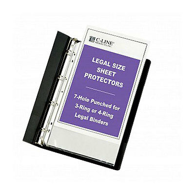New C-Line Legal Size Clear Heavyweight Poly Sheet Protectors - 50 BX