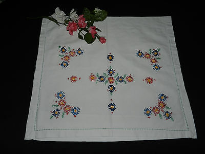 "lovely vintage hand embroidery pillowcase. Dimensions: 19""/17.5""  n2025"