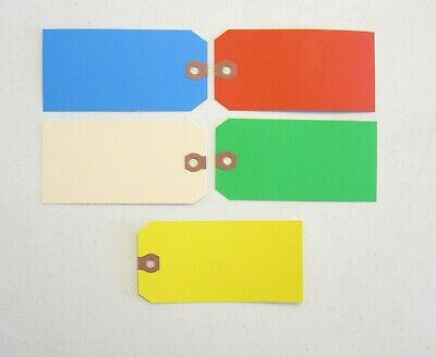 100 Colored Blank Shipping Hang Tags Scrapbook Gift Inventory Paper Label
