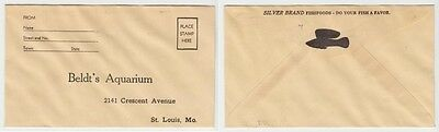 [# 14769] 1940's BELDT'S AQUARIUM RETURN ENVELOPE