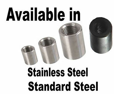 RIGHT LEFT HAND Threaded Insert Tube Adaptor Rose Joint Joiner Stainless Steel