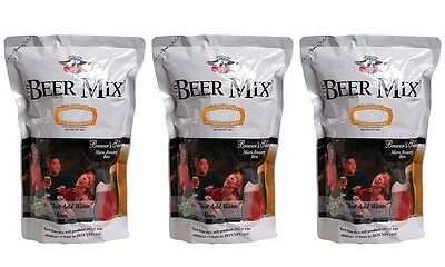 Micro Brewery The Beer Mix 3 Pack of Mixes + 10 X CO2 and Defoamer Discs