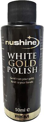 Nushine Professional White Gold Polish 50Mls  - Fantastic Shine, Non Toxic
