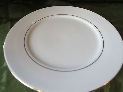 """Farberware Simplicity Gold 7 3/4"""" Salad Plate (s) white with gold bands"""