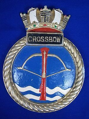 "HMS Crossbow (D96) Ships Crest, Aluminium 9x7"" One Off Casting Weapon Destroyer"