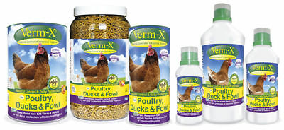 VERM-X HERBAL FOR POULTRY natural wormer chicken fowl duck intestinal health