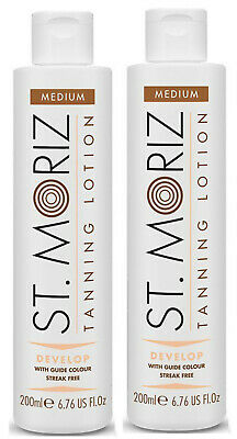 ST MORITZ Instant Bronzing SELF TANNING LOTION Medium x 2 - 200ml each  =400ml