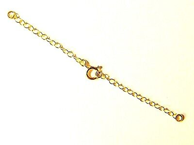 9ct Yellow Gold Necklet Safety /Extension Chain-w/Bolt Ring-Bracelet-Necklace