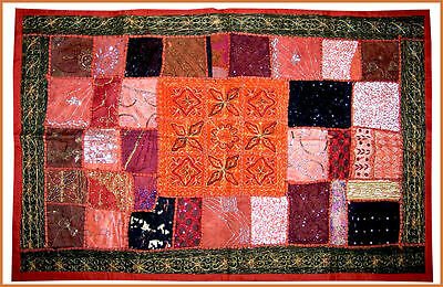 Sequin Bead Work Hand Embroidered Antique Wall Tapestry/throw/hanging From India