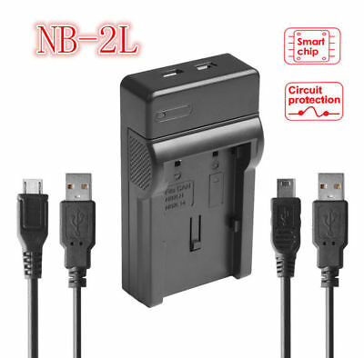 USB Battery Charger For Canon NB-2L NB2L EOS 400D 350D SLR Cameras New AU