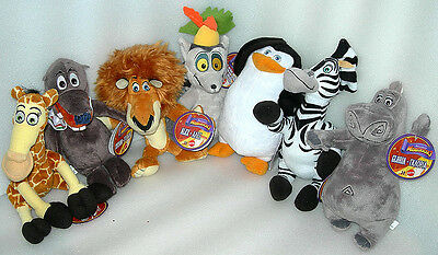 """Madagascar Zooster Pals Collectable 8"""" Super Soft Toy Plush - Asst - BNWT"""