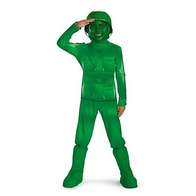 Child Toddler Movie Disney Pixar Toy Story Green Army Man Soldier Deluxe Costume