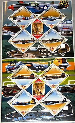 HAITI 2005 unlisted Aircrafts Planes Flugzeuge Military Airplanes A Einstein MNH