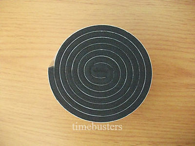 1m Black Double Sided Foam Tape Closed Cell 20mm Wide x 4.5mm Thick