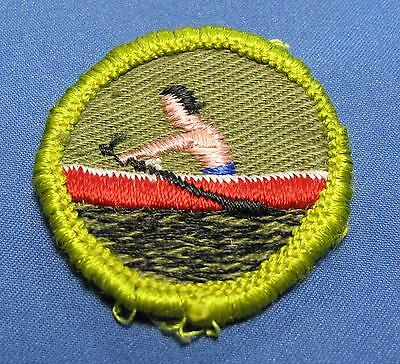 Vintage BSA Rowing Row Boat Boy Scouts of America Twill Round Merit ...