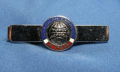 Vintage American Express 5 Year Award Sterling Silver Tie Alligator Clip Anson
