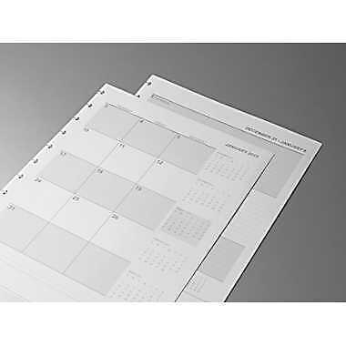 """Staples 2013 Weekly/Monthly Planner Refill Paper, White, 8-1/2"""" x 11"""" ~ Free S/H"""