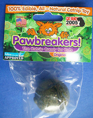 PAWBREAKERS Solid 100% Edible All-Natural Catnip Candy Ball Treat Toy for Cats