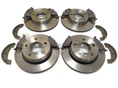 Bmw E46 98-04 325 328 Front & Rear Brake Discs And Pads & Handbrake Shoes New