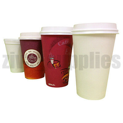Disposable COFFEE/TEA CUPS with or Without Lids-Paper and Polystyrene Catering