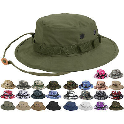 Tactical Boonie Hat Military Camo Bucket Wide Brim Sun Hunting Travel Hiking Cap
