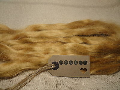 30g (approx 1oz) MOHAIR. DARK  BLONDE/GOLDEN BLONDE- straight