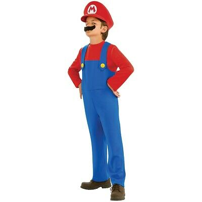 Super Mario Costume Kids/Toddler Mario Bros Brothers Halloween Fancy Dress