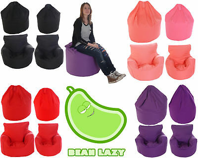BeanLazy Kids/Teens/Adult Sizes Bean Bag/Gaming Seat. 100% Cotton. With Filling.