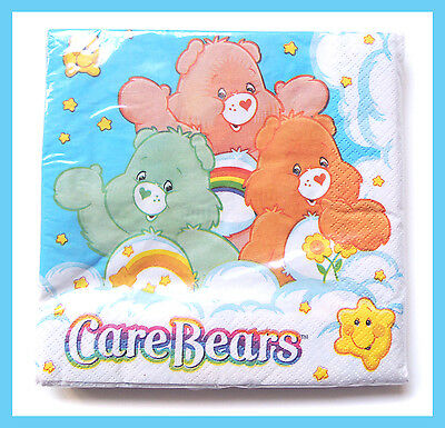 very cute care bears blue sky 3 ply party paper luncheon napkins 16pcs 13x13in