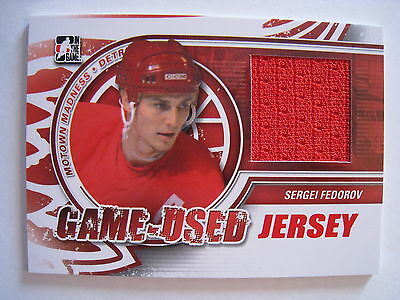 Sergei Fedorov 2012-13 Motown Madness GAME USED JERSEY  /140