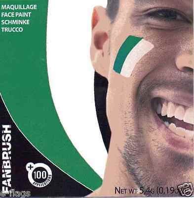12 X Northern Ireland Fan Flag Face Paint Ni Green & White Gawa