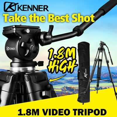 1.89m Professional Video Tripod Fluid Head Bowl For Camcorder Camera DSLR EI-717