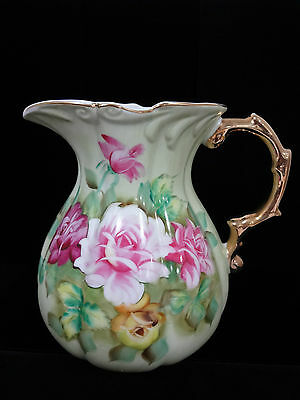 """40% OFF!  Lefton hand painted large serving pitcher 8-3/4"""" tall"""