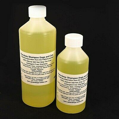 FLEA AWAY DOG FLEAS TICKS MITES SHAMPOO 100 % Natural 250ml or 500ml