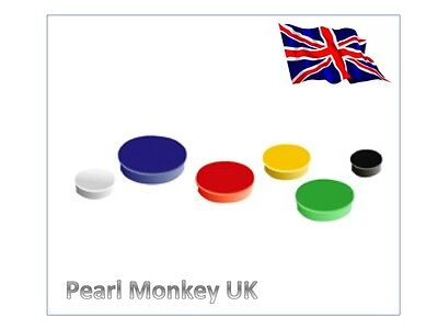 White board fridge magnets - mixed colours 10mm or 30mm