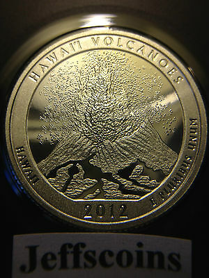 2012 S Mint Silver Proof Hawaii Volcanoes National PARK QUARTER 90% SILVER