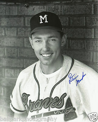 Denis Menke 1962-1965 Milwaukee Braves Signed Autographed 8x10 Photo COA w/Proof