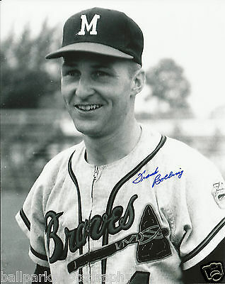 Frank Bolling 1961-1965 Milwaukee Braves Signed Autographed 8x10 Photo COA Proof