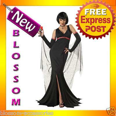 C311 Ladies Immortal Seductress Vampire Scary Halloween Fancy Dress Up Costume