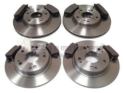 for HONDA CIVIC 1.8 2.2 CTDi 06-10 FRONT /& REAR GROOVED BRAKE DISCS MINTEX PADS