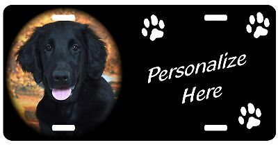 Flat Coated Retriever     Personalized    Pet License Plate