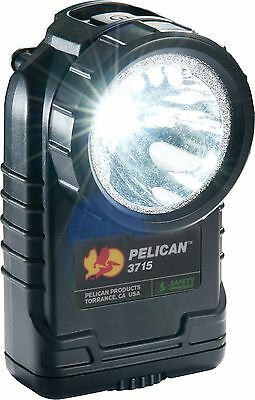 Brand New Pelican 3715 LED Flashlight; BLACK with black Shroud