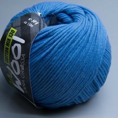 Lana Grossa McWool Cotton Mix 130 - 112 veilchenblau 50g Wolle