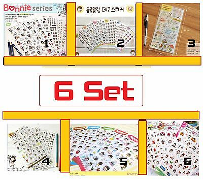 Diary Deco Stickers Decoration Labels Scrapbook Journal 6 set Cute DIY FUNNY