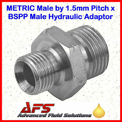 Hydraulic Steel Metric Male x BSP Male 60º Coned Adaptor Unequal Fitting Union